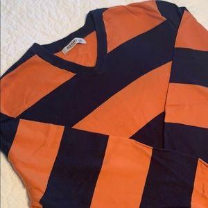 GUC Old Navy Striped V-Neck Sweater Sz XL